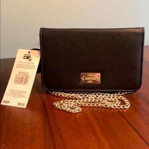 Brand New Nanette Lepore Black W/Gold Evening Bag